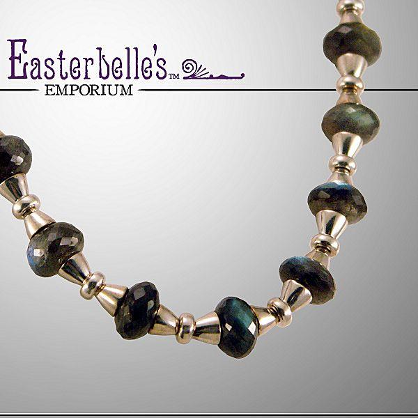 OOAK Davison Exceptional Finland Labradorite and Sterling Silver Necklace