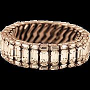 Beautiful Vintage Rhinestone Expandable Bracelet