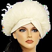Mad Hatter Uber Elegant 1960s Betmar Faux-Fur Hat