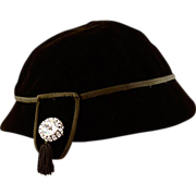 Vintage Neiman Marcus Black Velvet Hat