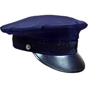 Fun Vintage Cop Hat in Dark Blue