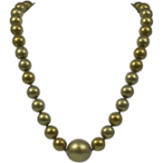 Vintage Chanel Dramatic Faux Pearl Necklace, ca. 1989