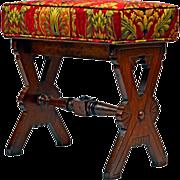 Elegant Late Victorian Eastlake Vanity Bench