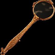 Elegant Victorian 14k Gold-Plated Lorgnette Working Mechanism
