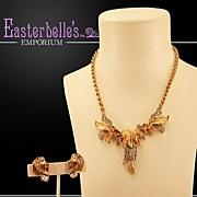 Beautiful Hattie Carnegie Earrings and Necklace Demi-Parure