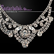 Glamorous Festoon White Rhinestone Necklace