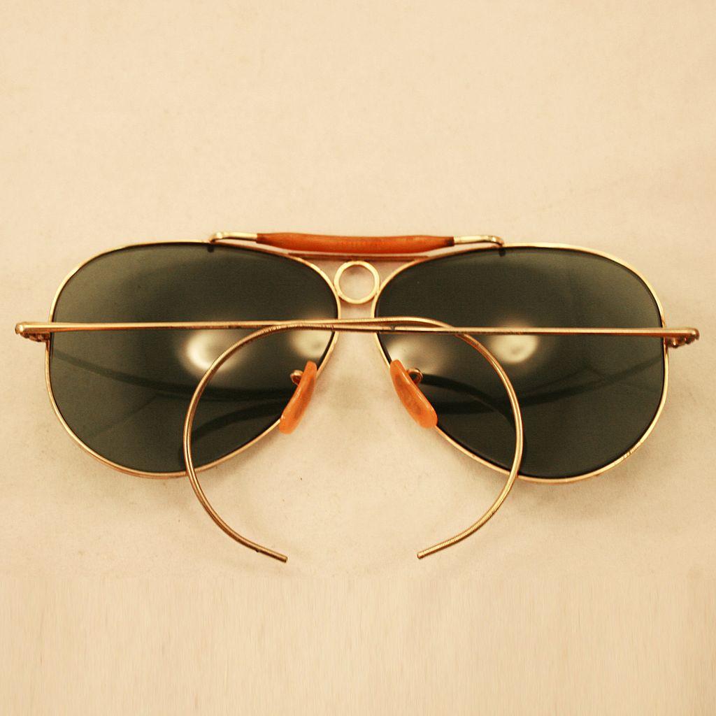 Vintage B Ray Ban Caravan Gold Metal Aviator Sunglasses Frames 62 14~125    slevi1.mit.edu 8cfee8bfc34f