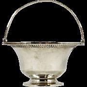 Elegant Antique Sterling Silver Matthews Co Decorative Basket 98 gms.