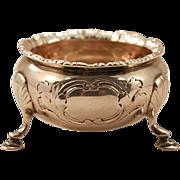 ca 1879 Sterling Salt Cellar (.925) Rare Sovereign Queen Hallmarked