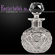 Uber-Elegant American Brilliant Cut Glass Scent Bottle