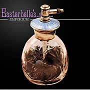John Walsh Walsh Signed and Hallmarked Sterling and Guilloche Perfume Bottle