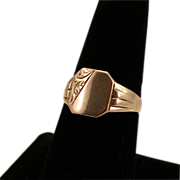 Graceful Unengraved Sterling Silver Signet Ring