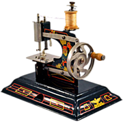 SALE PENDING Darling German Casige Vintage Toy Tin Sewing Machine