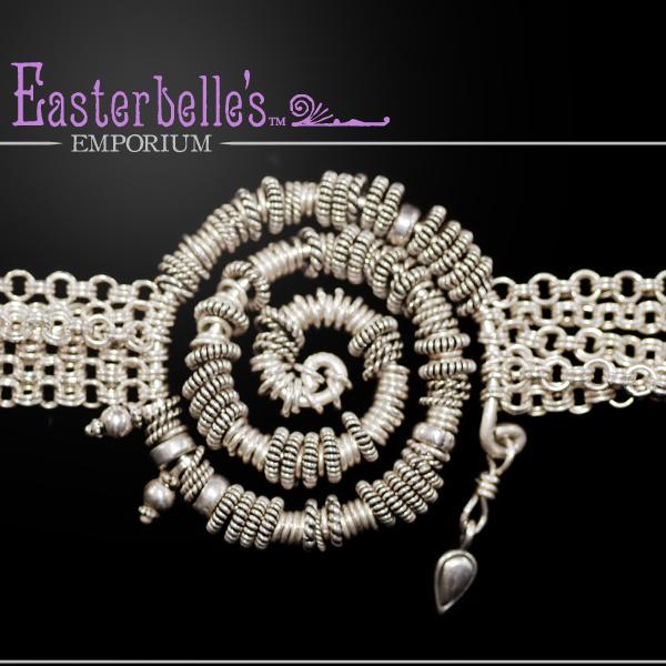 Sterling Silver (.925) Artisan Bracelet by Davison - Lots of Movement 47 gms