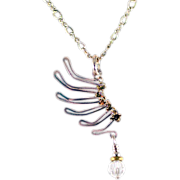 OOAK Davison Sterling Silver Wing Necklace