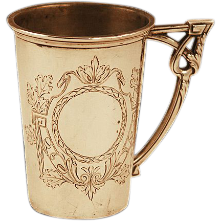 Exquisite German .800 Silver Cup 65 gms Heavily Hallmarked & Detailed