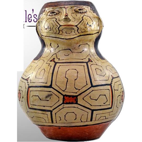 Exceptional Vintage Shipibo Hand-Painted Effigy Vase