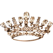 Mid-Century Carl-Art Sterling Silver .925 Big Beautiful Crown Brooch