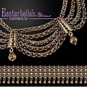 Antique Edwardian Silver Bracelet & Bib Style Necklace Set