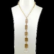 OOAK Davison Virtuous Sterling Silver Chain Affirmation Necklace