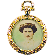 Antique 9 Karat Gold Chester Hallmarked Locket -ca 1907 Highly Collectible
