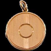 ca 1864 Fully Hallmarked 9-Karat Rose Gold Locket