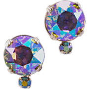 BIG, Blingy Vintage Vogue Co. AB Rhinestone Earrings