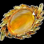 Sparkling Sunburst Vintage Brooch - Great Size!