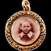 Antique 15 Karat Gold Frame Locket
