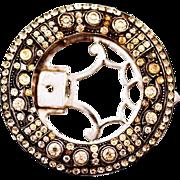 Vintage Very Rare Knoll Pregizer Sterling Silver Dress Clip