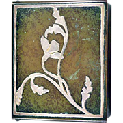 Vintage Heintz Sterling on Bronze Cedar Lined Cigarette Box Coveted Verde Patina