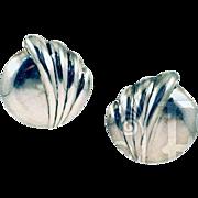 Beautiful Vintage Thai Sterling Silver Clip-On Earrings