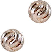 Vintage Thai Modernist Sterling Silver Earrings