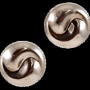 Unique Yin/Yang Thai Sterling Silver Earrings