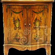 Vintage Maple Burl Cabinet