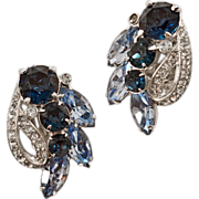 Vintage Eisenberg Ice Blue Earrings