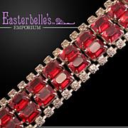 Ultra-Glam Vintage Bracelet With Big, Blingy Rhinestones