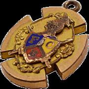 Fascinating Knights of Pythias Vintage 9K GF Pendant