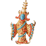 "Extremely Collectible Vintage Boucher ""Siamese Dancer"" Brooch"