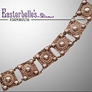 Amazing Vintage Hand-Made German Arts & Crafts Era .800 Silver Bracelet