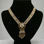 Retro 1940's 14K gold necklace