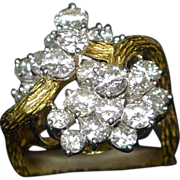 Fine Diamond and 18k Ring