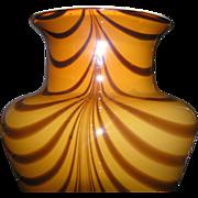 SALE Tall cased glass vase in butterscotch color for floral arrangements