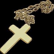 SALE Necklace:Bakelite, butterscotch, Christian religious crucifix