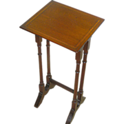 SALE Small Mahogany, inlay, side table, circa 1930, all original