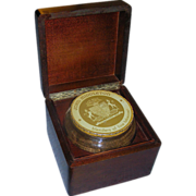 SALE Humidor tobacco box: solid mahogany, John Middleton, c 1940