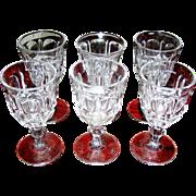 SALE Vintage Pressed, Pattern Glasses, Tumblers, set 5