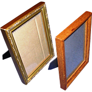 Pair of standing picure frames...NOT matching...vintage and in very good shape