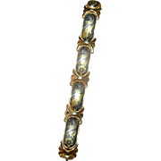 SALE Vintage bracelet- excellent workmanship, intricately designed, with safety chain
