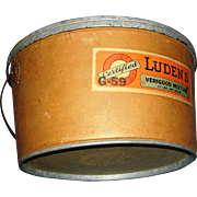 REDUCED Advertising Store Container, vintage, Verigood, Luden's Candies, durable heavy duty ..